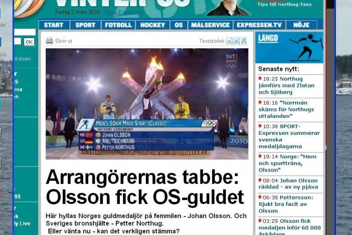 Highlighted in the Swedish newspaper Expressen ...