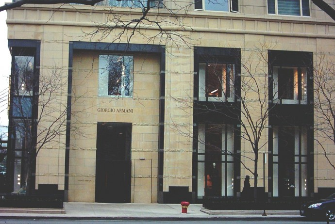 Armani boutique in Chicago. Photo by Knutaril.