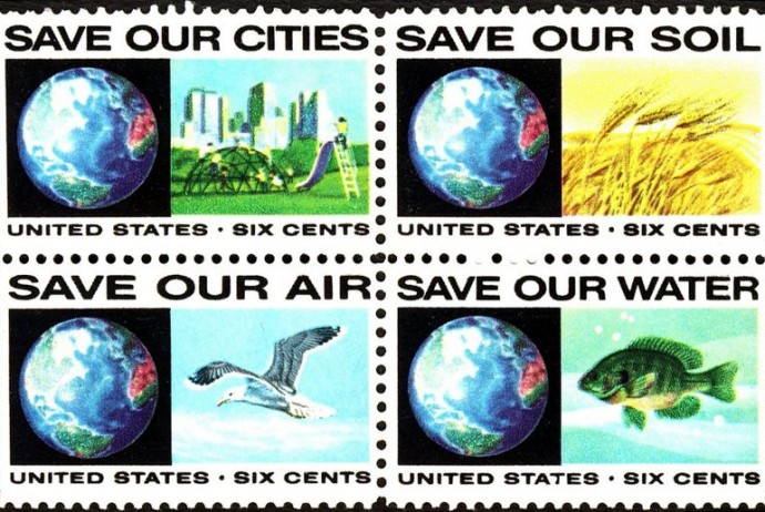 Save Our Cities-Air-Soil-Water Stamp