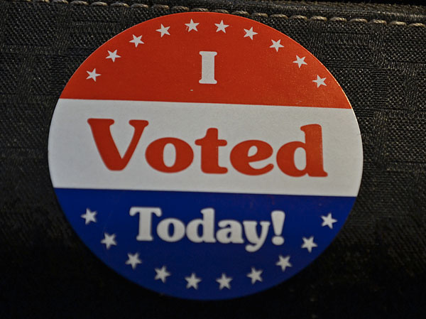 I Voted Sticker from US Election 2012