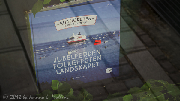 Hurtigruten Book in Window