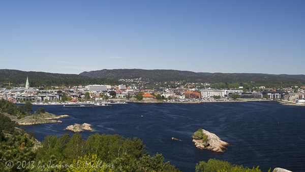 Kristiansand harbor, as seen from Odderøya
